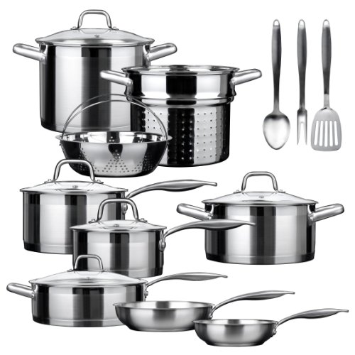 Duxtop-SSIB-17-Professional-17-piece-Stainless-Steel-Induction-Cookware-Set-Impact-bonded-Technology-0