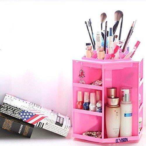 ECVISION-ECVISION-Big-Capacity-Rotating-Acrylic-Cosmeticrevolving-makeup-organizerCosmetics-Storage-0-0