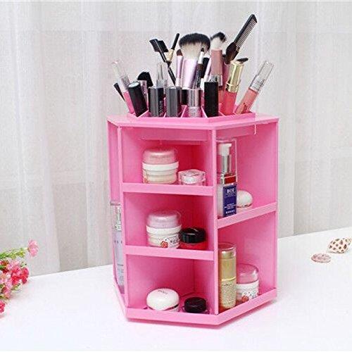 ECVISION-ECVISION-Big-Capacity-Rotating-Acrylic-Cosmeticrevolving-makeup-organizerCosmetics-Storage-0