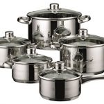 ELO-Skyline-Stainless-Steel-Kitchen-Induction-Cookware-Pots-and-Pans-Set-with-Air-Ventilated-Lids-10-Piece-0