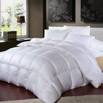 Egyptian-Bedding-LUXURIOUS-1200-Thread-Count-GOOSE-DOWN-Comforter-1200TC-100-Egyptian-Cotton-Cover-750-Fill-Power-50-Oz-Fill-Weight-White-Color-0