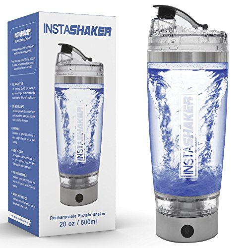 Electric-Protein-Shaker-Bottle-Blender-Bottle-20-oz-600-ml-USB-Rechargeable-Vortex-Mixer-Cup-with-Bonus-Powder-Storage-Compartment-and-Gift-Box-0