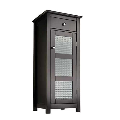 Elegant-Home-Fashions-Chesterfield-Collection-Floor-Cabinet-with-one-Door-and-one-Drawer-Espresso-0