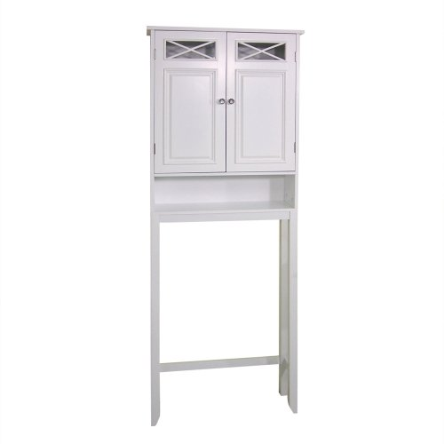 Elegant-Home-Fashions-Dawson-Collection-Shelved-Bathroom-Space-Saver-with-Storage-Cubby-White-0