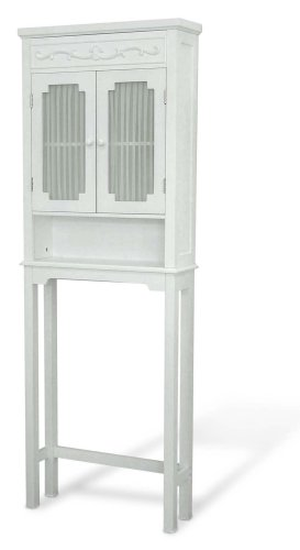Elegant-Home-Fashions-Lisbon-Collection-Shelved-Bathroom-Space-Saver-White-0