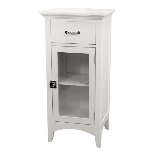Elegant-Home-Fashions-Madison-Collection-Shelved-Floor-Cabinet-with-Drawer-White-0