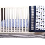 Elephants-BlueGrey-10-pc-crib-set-including-Bumper-Pad-0-0