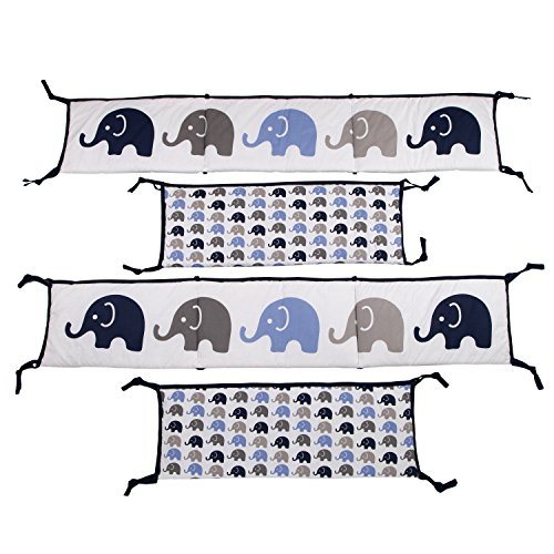 Elephants-BlueGrey-10-pc-crib-set-including-Bumper-Pad-0-1