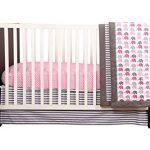 Elephants-PinkGrey-10-pc-crib-set-including-Bumper-Pad-0-0