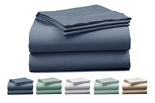 Elles-Bedding-Collections-750-Thread-Count-Bedspread-100-Cotton-Sheet-Set-Sateen-Weave-Deep-Pocket-with-Marrow-Hem-Breathable-Premium-Quality-Bedding-Set-0