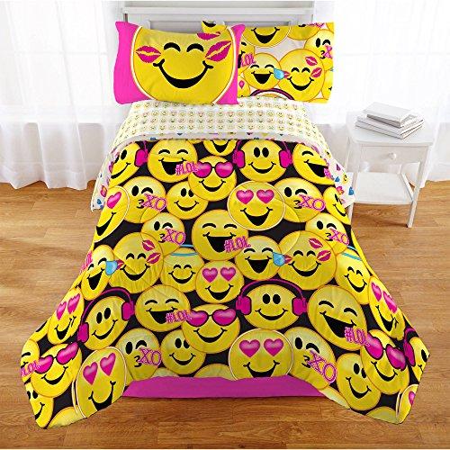 Emoji-Complete-4-Piece-Girls-Bedding-Set-Twin-0-0