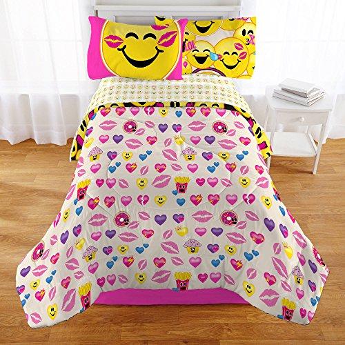 Emoji-Complete-4-Piece-Girls-Bedding-Set-Twin-0-1