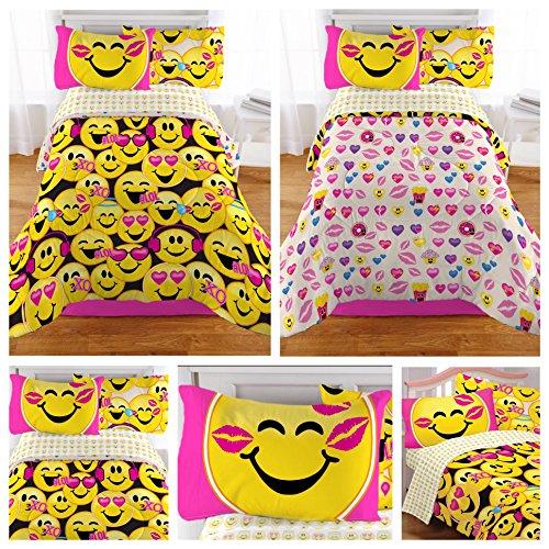 Emoji-Complete-4-Piece-Girls-Bedding-Set-Twin-0