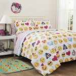 Emoji-Girls-Complete-5-Piece-Reversible-Bedding-Comforter-Set-TwinTwin-XL-0-0