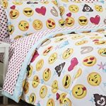 Emoji-Girls-Complete-5-Piece-Reversible-Bedding-Comforter-Set-TwinTwin-XL-0-1