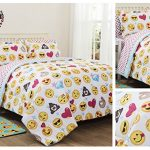 Emoji-Girls-Complete-5-Piece-Reversible-Bedding-Comforter-Set-TwinTwin-XL-0