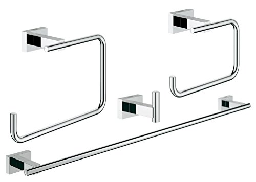 Essentials-Cube-Master-Bathroom-Accessories-Set-4-in-1-in-GROHE-StarLight-Chrome-0