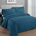 Fancy-Collection-3pc-Luxury-Bedspread-Coverlet-Embossed-Bed-Cover-Solid-Blue-New-Over-Size-0