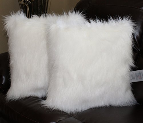 Faux-Fur-Pillow-Cover-Arctic-Fox-White-18-X-18-in-Set-of-2-0