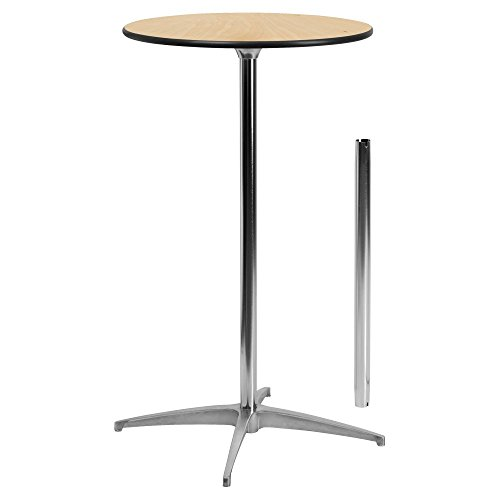 Flash-Furniture-Round-Wood-Cocktail-Table-with-30-Inch-and-42-Inch-Columns-0
