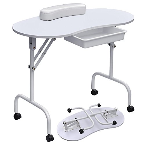 Foldable-Portable-Manicure-Table-Nail-Technician-Desk-Workstation-White-0-0