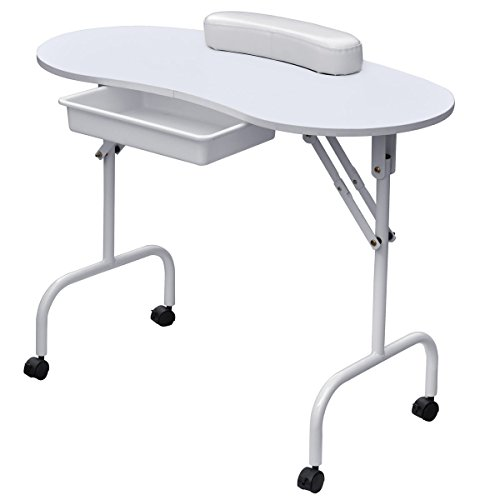 Foldable-Portable-Manicure-Table-Nail-Technician-Desk-Workstation-White-0-1
