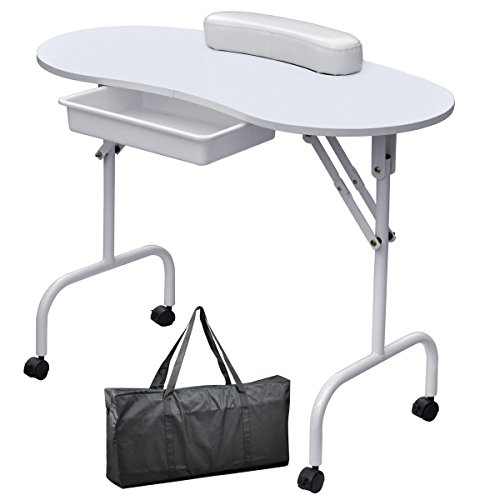 Foldable-Portable-Manicure-Table-Nail-Technician-Desk-Workstation-White-0