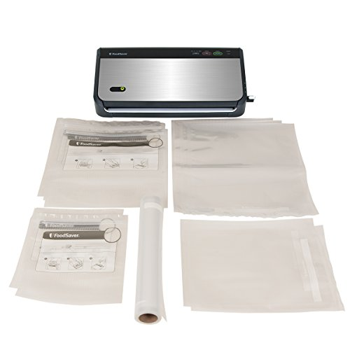 FoodSaver-FM2435-ECR-Vacuum-Sealing-System-with-Bonus-Handheld-Sealer-and-Starter-Kit-Silver-0-0