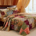French-Country-Patchwork-Quilted-Bedspread-Set-Oversized-King-to-the-floor-0