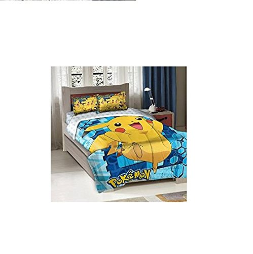 Fun-Pokemon-Big-Pikachu-TwinFull-Bedding-Comforter-Set-0