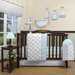 GEENNY-Boutique-Baby-13-Piece-Crib-Bedding-Set-Glacier-BlueGray-Chevron-0-0