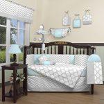 GEENNY-Boutique-Baby-13-Piece-Crib-Bedding-Set-Glacier-BlueGray-Chevron-0