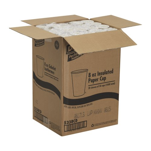 Georgia-Pacific-Dixie-PerfecTouch-5338CD-Coffee-Design-Insulated-Paper-Hot-Cup-8oz-Case-of-20-Sleeves-50-Cups-per-Sleeve-0-0
