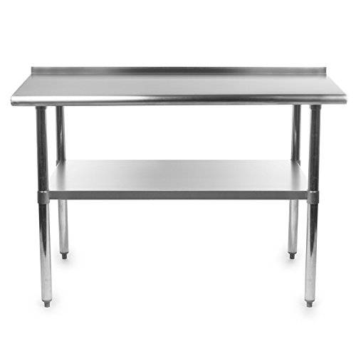 Gridmann-Stainless-Steel-Commercial-Kitchen-Prep-Work-Table-with-Backsplash-48-x-24-Inches-0-0