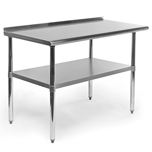 Gridmann-Stainless-Steel-Commercial-Kitchen-Prep-Work-Table-with-Backsplash-48-x-24-Inches-0