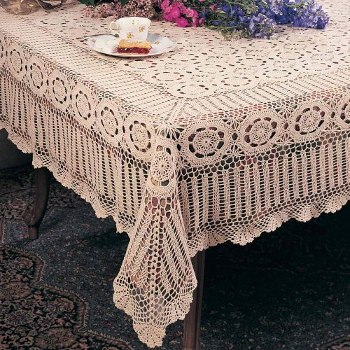 Handmade-Crochet-Lace-Tablecloth-100-Cotton-Crochet-One-piece-0
