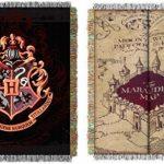 Harry-Potter-Combo-Set-2-Throw-Blankets-Marauders-Map-Hogwarts-0