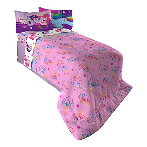 Hasbro-ML4398-My-Little-Pony-Ponyfied-Reversible-Comforter-TwinFull-0-0