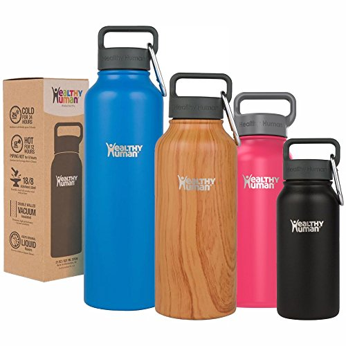 Healthy-Human-Water-Bottle-Stein-Cold-24-Hrs-Hot-12-Hrs-4-Sizes-12-Colors-100-Leak-Sweat-Proof-Double-Walled-Vacuum-Insulated-Stainless-Steel-Thermos-Flask-with-Carabiner-Hydro-Guide-0
