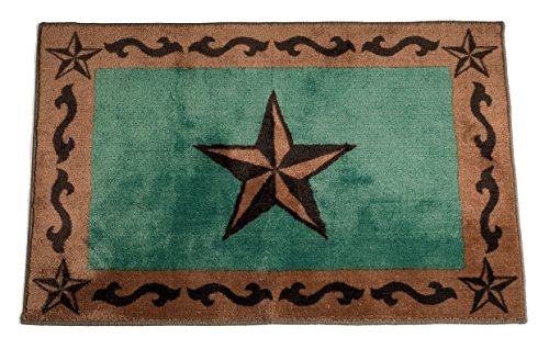 HiEnd-Accents-Star-Print-Rug-24-by-36-Inch-Turquoise-0