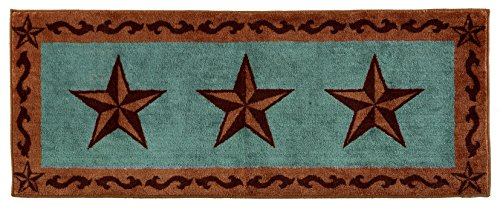 HiEnd-Accents-Star-Print-Rug-24-by-60-Inch-Turquoise-0