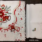 Holiday-Christmas-Embroidered-Poinsettia-Candle-Bell-Tablecloth-88-ROUND-12-Napkins-White-0-1