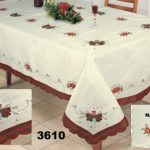 Holiday-Christmas-Embroidered-Poinsettia-Candle-Tablecloth-70×140-12-Napkins-Ivory-0-0