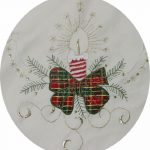 Holiday-Christmas-Embroidered-Poinsettia-Candle-Tablecloth-70×140-12-Napkins-Ivory-0-1