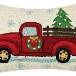 Holiday-Highway-Christmas-Truck-14-X-18-Wool-Hooked-Throw-Pillow-0