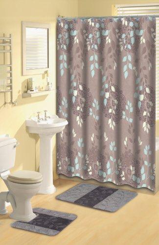 Home-Dynamix-LUX06-361-Luxury-Polyester-15-Piece-Bath-Set-TaupeAqua-0