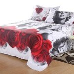 Home-Living-HD-Printing-Upgrade-3D-Bedding-Set-4pcs-Marilyn-Monroe-Bed-Sheet-Pillow-Cases-Duvet-Cover-Twin-Size-0-0
