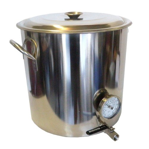 HomeBrewStuff-32-QT-Stainless-Steel-Home-Brew-Kettle-with-Valve-and-Thermometer-0
