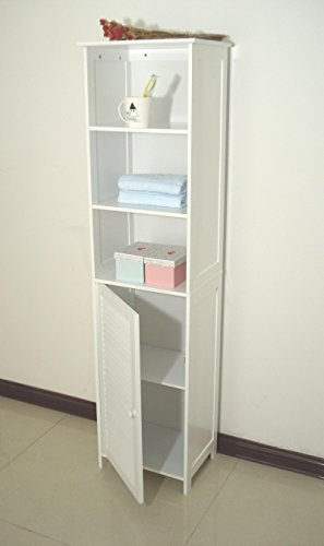 Homecharm-Intl-HC-044-Tower-Bathroom-Cabinet-LouveredWhite-0-1