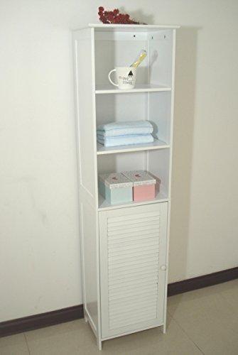 Homecharm-Intl-HC-044-Tower-Bathroom-Cabinet-LouveredWhite-0
